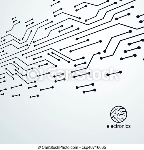Vector abstract computer circuit board illustration