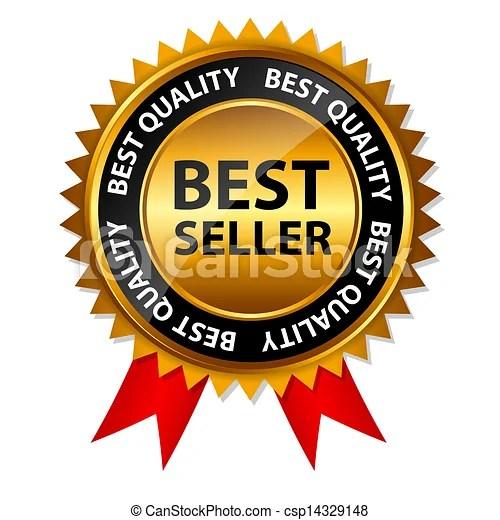 vector best seller gold
