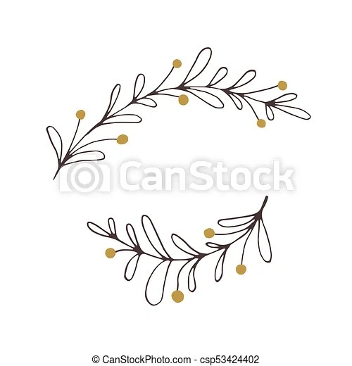 vector christmas floral element