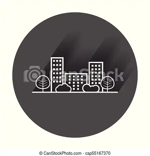 shrub graphic symbols diagram mercruiser 4 3 electric fuel pump wiring vector city illustration in flat style building tree and with long shadow