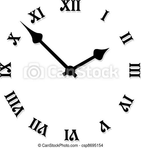 Vector clock face.