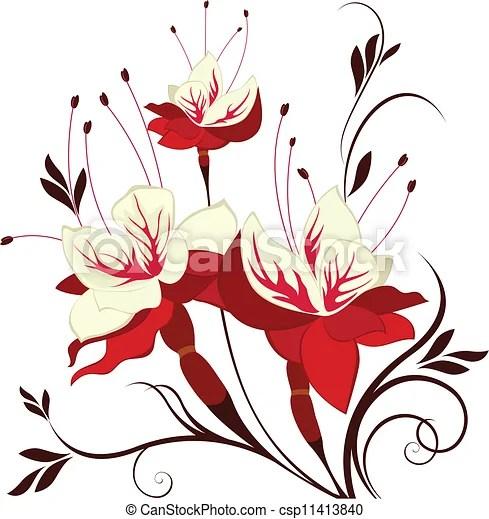 vector flower fuchsia decorative