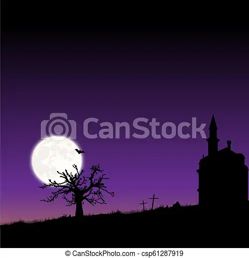 vector frame with moon