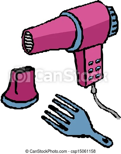 vector hair dryer clipart