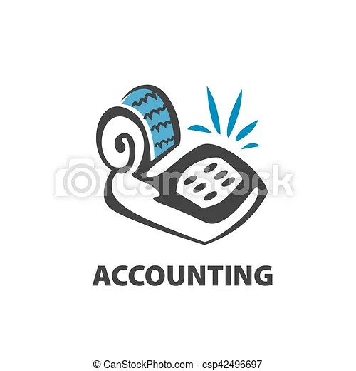 Vector logo accounting. Template design logo accounting