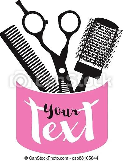 Scissors And Comb Clipart : scissors, clipart, Vector, Salon, Scissors, Comb., Illustration., CanStock