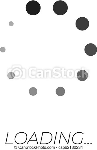 Loading Symbol Text : loading, symbol, Vector, Monochrome, Loading, Symbol,, System, Update,, Process., Icon,, Process, CanStock