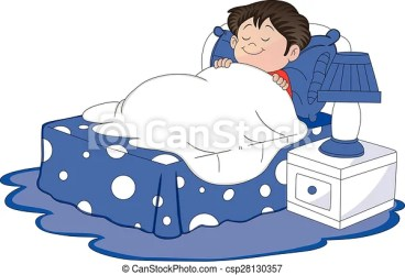 sleeping boy bed clipart illustration vector graphic clip drawing drawings canstockphoto
