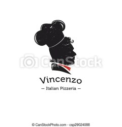 italian restaurant silhouette retro vector head cook logotype classic chef food shutterstock