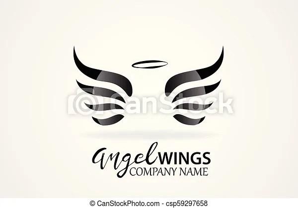 vector sketch of angel
