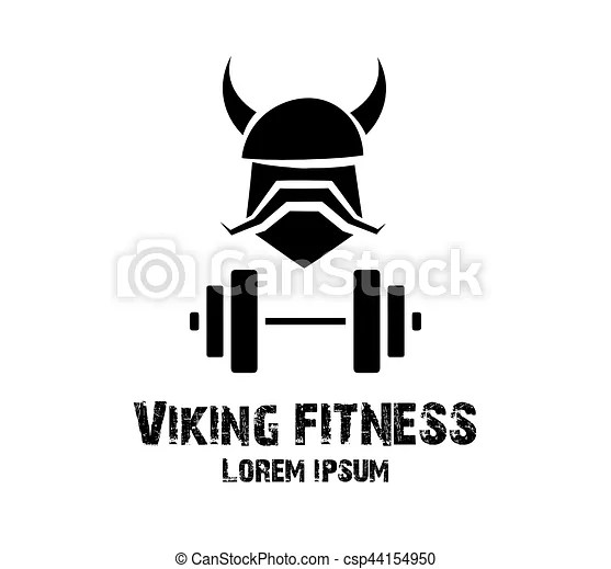 Viking fitness logo design concept. eps 8 supported.