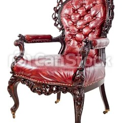 Vintage Arm Chair Chiavari Rental Cost Armchair Leather Isolated On A White Csp7342891