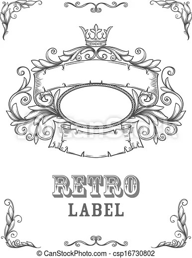 Vintage banner. template certificate, diploma. elements of