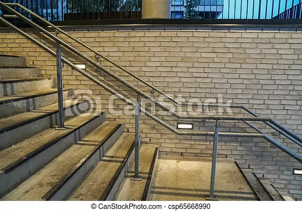 Vintage Handrail With Outdoor Concrete Stairs | Metal Handrails For Outdoor Steps | Hand | Front Porch Stair Railing | Outside | Patio | Gas Pipe