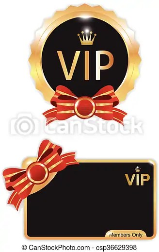 vip badges and card