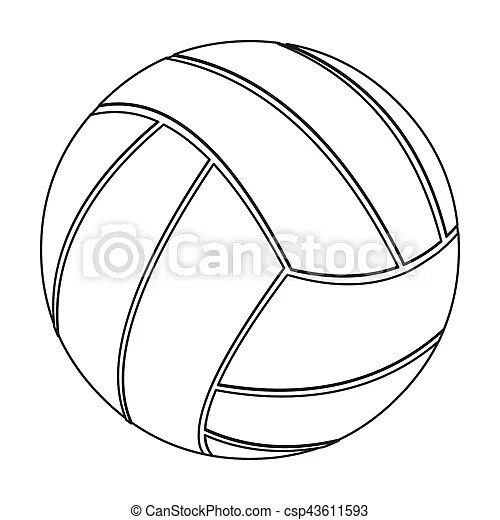 Volleyball icon outline. single sport icon from the big
