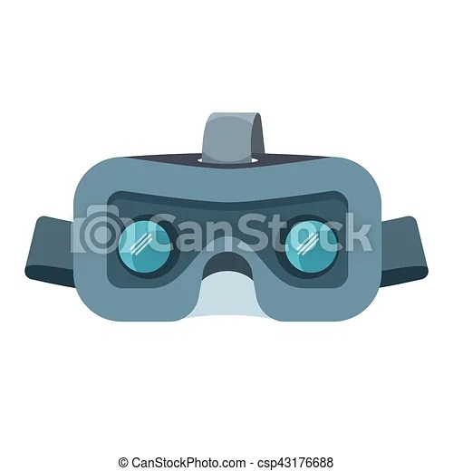 vr headset isolated on
