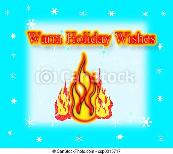 Warm holiday wishes. Season greetings illustration - get creative & use card stock paper to print this out. frame that
