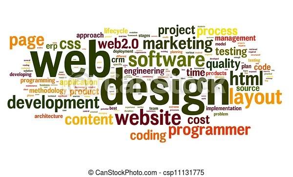 web design concept in