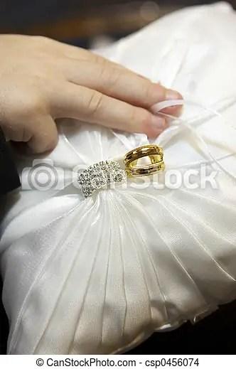 https www canstockphoto com wedding rings on ring bearer pillow 0456074 html