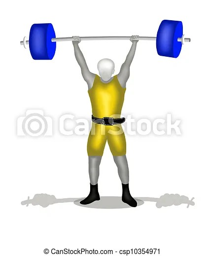 Sportman weightlifting in clean and jerk position. weightlifting is the sport of physical activities in which people lift weights, also known as ...