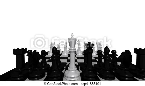 white chess pieces with