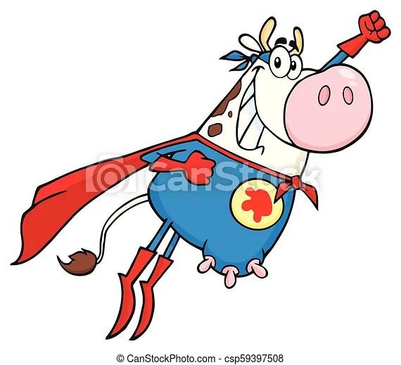 white super hero cow