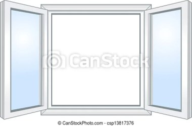 window open wide vector clipart illustration drawings drawing clip line canstockphoto