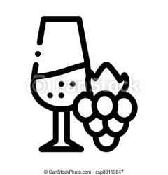 Wine with grapes icon vector outline illustration Wine with grapes icon vector wine with grapes sign isolated contour CanStock