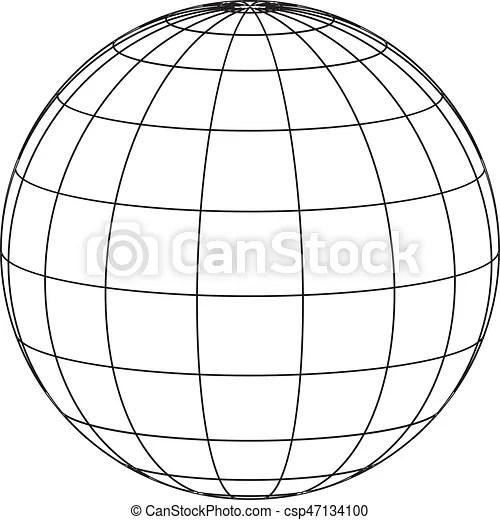 Wire frame globe.