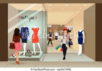 mall shopping clipart vector illustration clip woman stylish illustrations drawings royalty icon drawing smiling clipartpanda line trove silhouette preview vectors