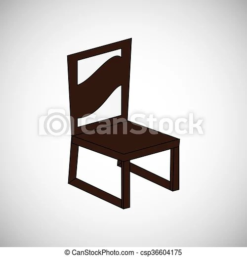 chair design icons medi lift wood seat icon furniture concept vector illustration csp36604175