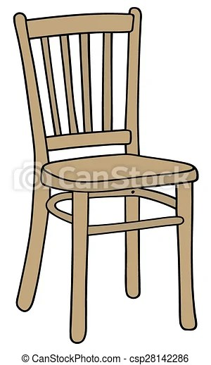 Wooden chair Hand drawing of a classic wooden chair