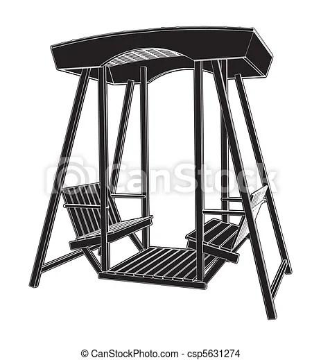 swing chair drawing desk discount wooden vector