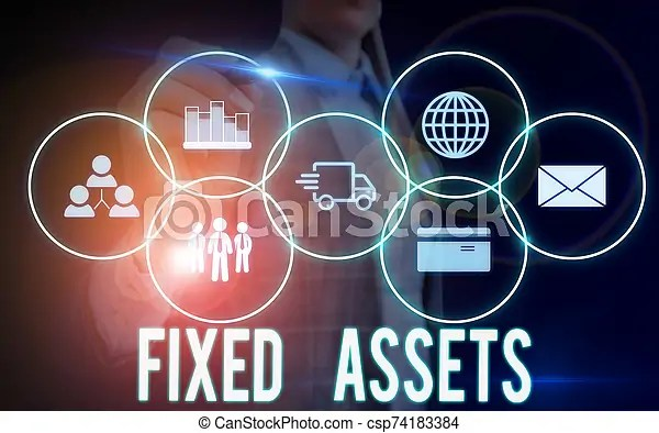 Writing note showing fixed assets. business photo showcasing longterm tangible piece of property or equipment a firm owns woman wear formal work ...