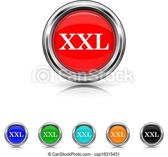 xxl icon - six colours set. shiny