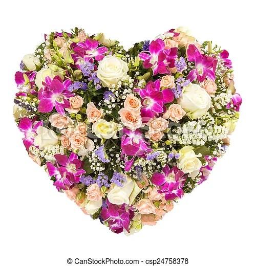Bilder von Sommer begriff herz Collage Freigestellt Blumen csp24758378  Suchen Sie