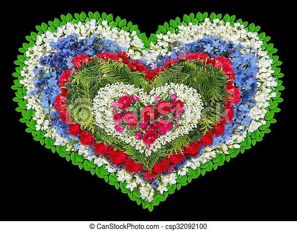 Stock Fotografie von Blumen herz Trauer  Trauer tragical Kranz als csp32092100