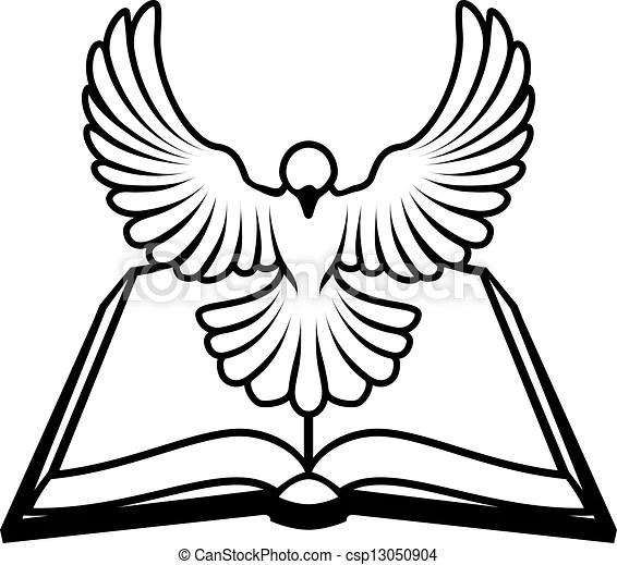 Christian bibel dove konzept. Ein christliches bibel-dove