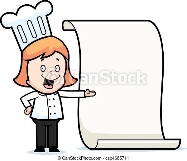 Kchenchef menkarte kind Kchenchef glcklich menu