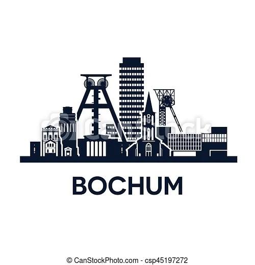 Stadt skyline bochum Stadt abstrakt abbildung skyline