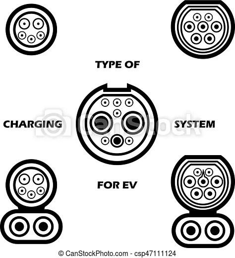 Verschieden, satz, elektrisch, system, vektor, auto