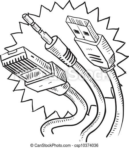 Bosquejo, computadora cablegrafía. Estilo, computadora