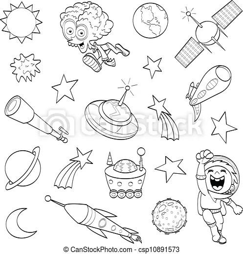 Ilustraciones vectoriales de Conjunto, exterior