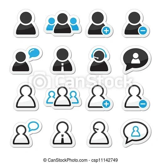 EPS vector de Etiquetas, Conjunto, usuario, hombre, icono