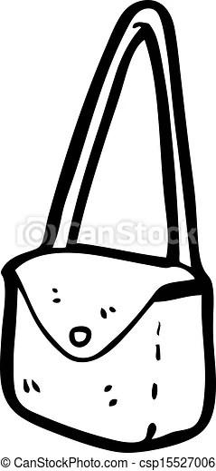 Vector Clip Art de caricatura, cartera csp15527006
