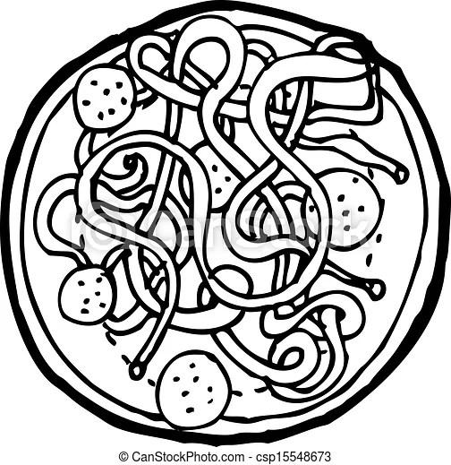 Ilustraciones vectoriales de Espaguetis, Albóndigas