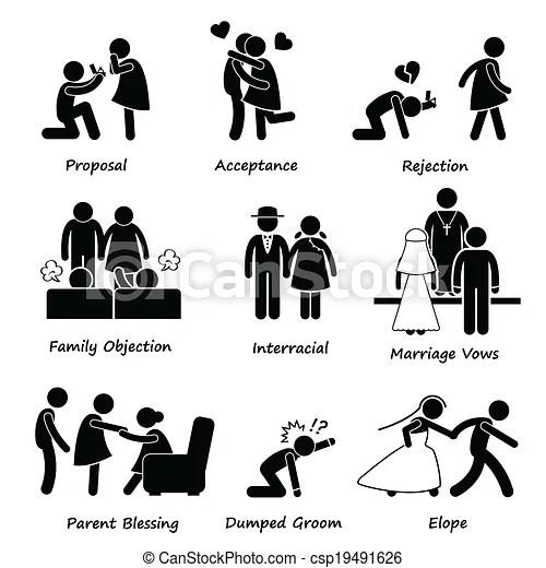 Ilustraciones de Vectores de amor, pareja, Matrimonio