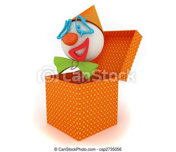 Stock de Ilustracion de divertido, payaso, en, Un, caja csp2735056 - Buscar Clipart, Dibujos, Ilustraciones y Vectores de EPS de Imagenes Graficas