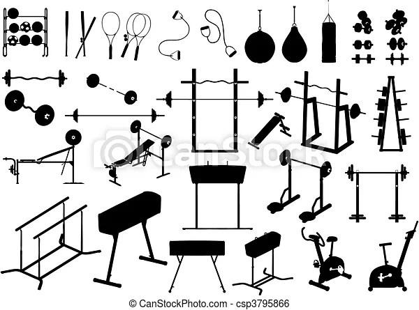 Clip Art de vectores de equipo, gimnasio, (vector
